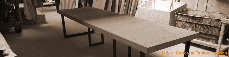 H & H Concrete Dining Tables