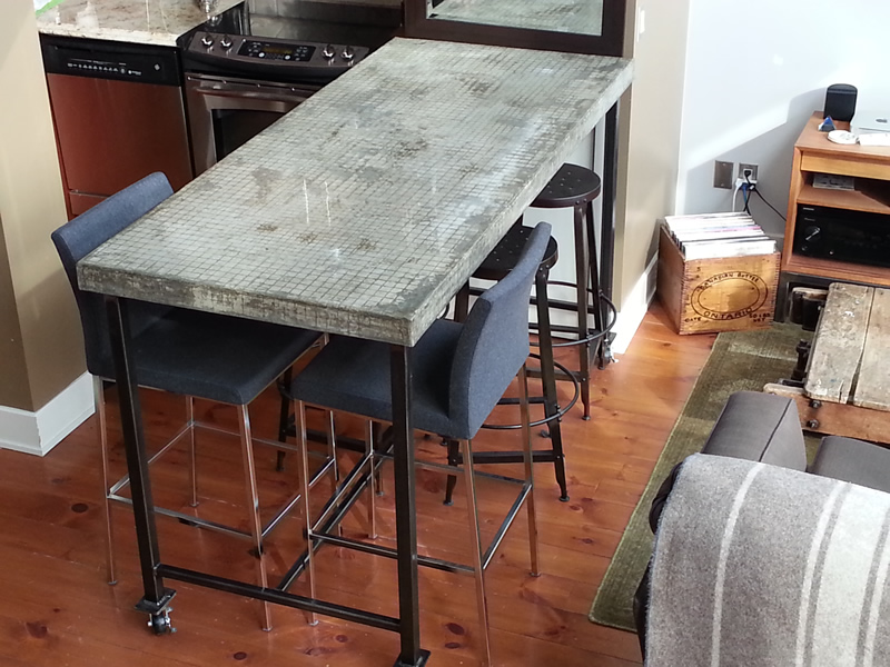 Composite Concrete Breakfast Bar