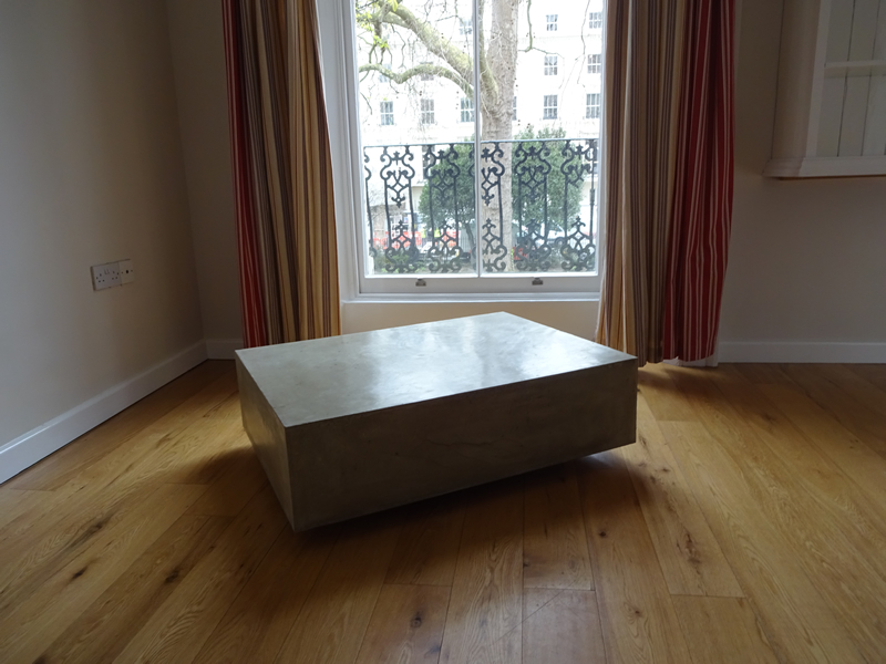 Floating Cube Concrete Coffee Table