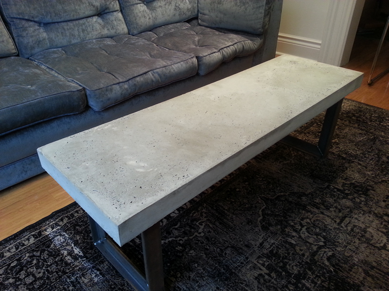 Concrete Dining Table H Amp H Bespoke Concrete Top Tables