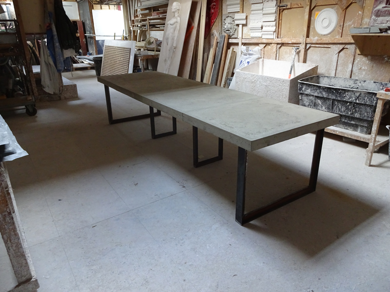 Concrete Dining Table H H Concrete Top Tables