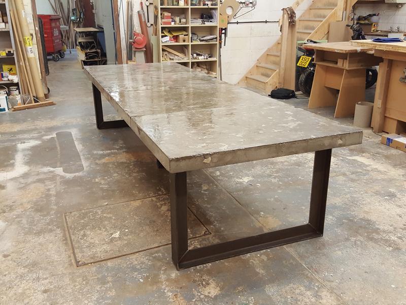 Concrete Dining Table H H Bespoke Concrete Top Tables